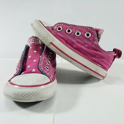 Converse Shoes Size 6 Chuck Taylor All Star Simple Slip On Sneakers Toddler  Girl 10c03739c