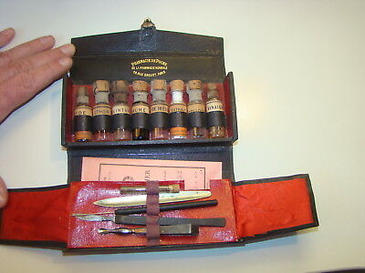 Antique Medical Dental Pharmacy Medicine Set 1850 Pharmacy De Poche Paris