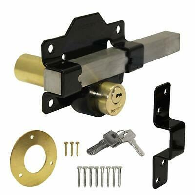 Perry 50mm 70mm Double Locking Long Throw Gate Lock Black Keyed Differently D27