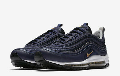 new arrival 95ae2 b9581 Nike Air Max 97 SAMPLE 9 Midnight Navy Gold 921826 400 Sw Undftd Off Sean  Silver