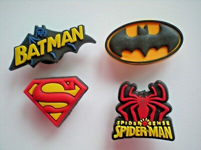 Jibbitz Croc Clog Shoe Charms Fit Bracelet Belt 4 Superman Spiderman Batman