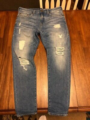 458514dc43b TRUE RELIGION MEN'S Logan Workwear Distressed Relaxed Taper Jeans in ...