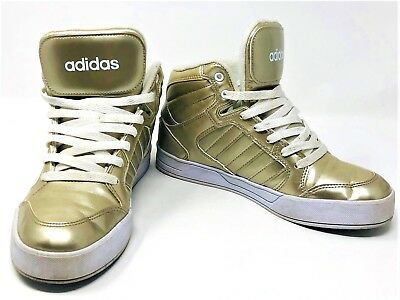 8595d5d5d8ff6e Adidas Gold High Top Sneakers f98976 Mid Neo Raleigh Shiny Women s x6qZa1Hx