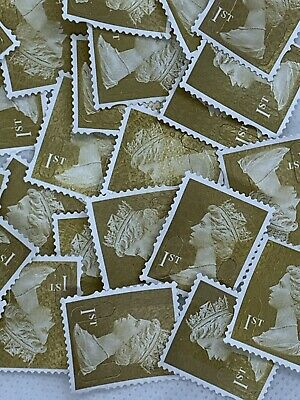 500 X 1st Class Unfranked Off Paper No Gum Postage Stamps - FV £350