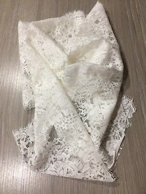 Fine French Lace Trim in Ivory 2.50 m