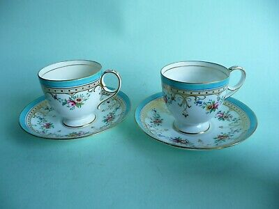 Pair of 19th century unmarked Minton cups & saucers, 875 pattern.......ref.1567