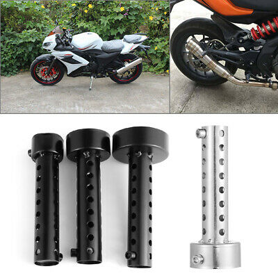 Rear Muffler Stainless Steel Exhaust Pipe Motorcycle Baffle Motorbike Insert