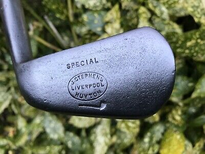 Nice Playable Tom Stewart Pre 1905 Pipe Cleek Mark Hickory Shafted Mashie (D0)