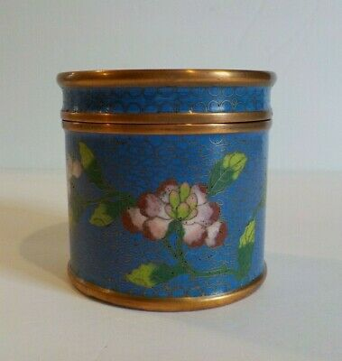 "19th C. Chinese Cloisonne Enamel on Copper 3"" Lidded Box"