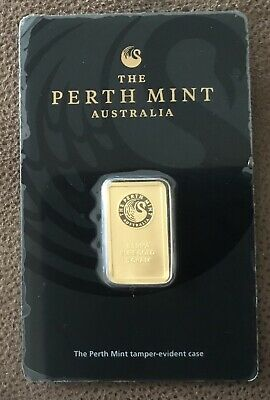 Perth Mint 5 Gram Gold Bar - In Assay - 99.99 Fine Gold