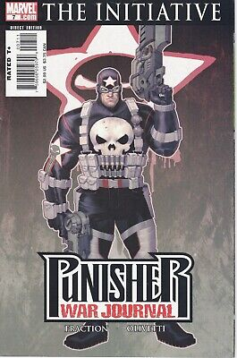 The Punisher War Journal  #7 Marvel Comics 2007 The Initiative Variant Cover