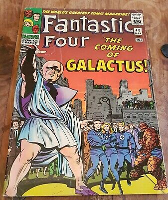 Fantastic Four #48 1st silver surfer cameo Galactus FN to FN-