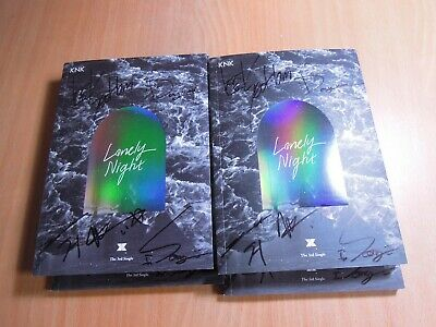 KNK - LONELY NIGHT (3rd Single Promo) with Autographed (Signed)