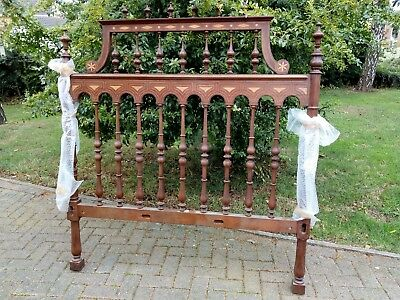 Portuguese/Spanish carved mahogany double bed, copy of 17th C museum piece