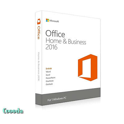 Microsoft Office 2016 Home & Business 32/64 Bit