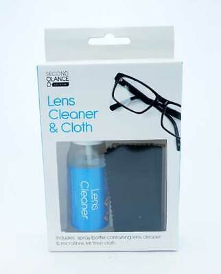 Optical Glasses Lens Cleaner and Cloth 30ml Spray Bottle Camera Wipes & Lintclot