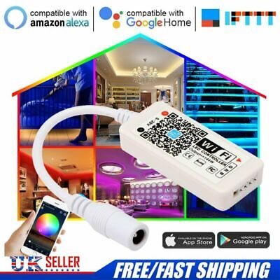 Wireless Smart WiFi LED RGB RGBW Light Strip Controller For Alexa Google Home
