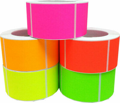 Rectangle Stickers, 2.5 x 3.5 Inches Wide, 500 Labels per Roll, 6 Color Choices