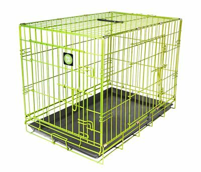 Lime Green Dog Training & Travel Crates By Dog Life