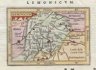1604 Scarce Ortelius/Hulsius Map of Limoges, France