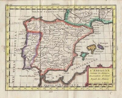 1761 Attractive Buffier Map of Spain