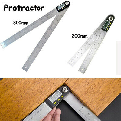 Inclinometer LCD Screen Digital Protractor Stainless Goniometer Angle Ruler