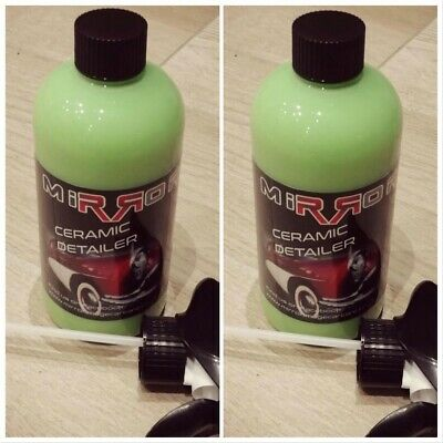 X2 Spray On Ceramic Coating Detailer (Hydrophobic Nano) 500ml Twin Pack