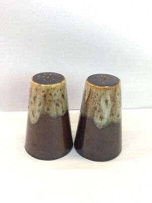 Vintage Brown Drip Salt And Pepper Shakers USA Pottery Hull?