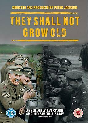 They Shall Not Grow Old Poppy Day Rembrance DVD Peter Jackson New 5051892220729