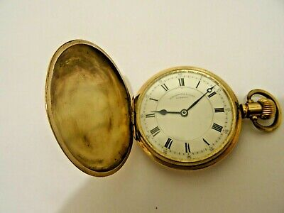 Waltham Hunter Pocket Watch in Gold Plated Case Grade 620 15 J Repair