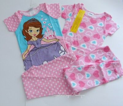 Sofia the First 4pc Pajama Set Girls Size 4T Mix Match
