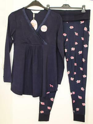 Peter Alexander Navy Cotton/Modal Maternity PJ Set Sz M NWT RRP $119