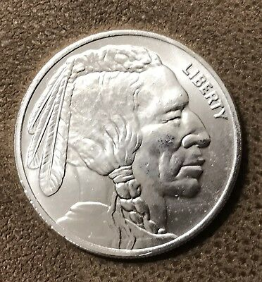 Silver Round - Indian Head/Buffalo - 1 Troy Ounce .9999