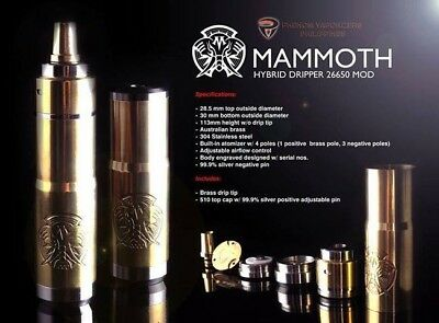 Mammoth Mechanical Mod Authentic Serialized Rare Collector