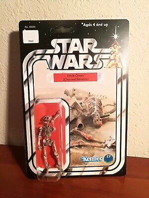 Star wars vintage style figure Uncle OWEN Charred Remains