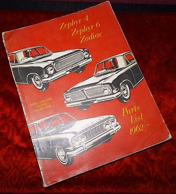 Revue technique 1962 /Ford Zodiac/Zephyr 4/ 6 Ford Motor Company Limited England