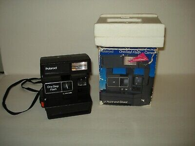 POLAROID OneStep Flash Camera with Strap and Box