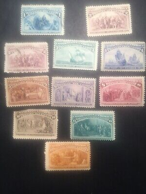 U.S. Scott's Mint #230-#239! (#238 MNH Gem).   CV$875