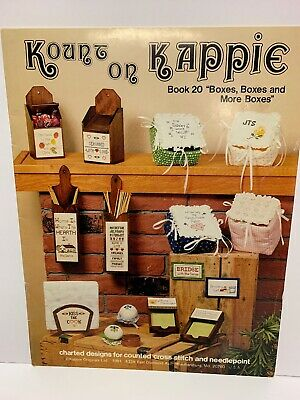 Kount On Kappie Boxes and More Boxes Counted Cross Stitch Pattern Chart 1981
