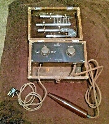 Emesay Victorian Medical Equipment Or Scientific/Quack Doctor Box & Test Tubes