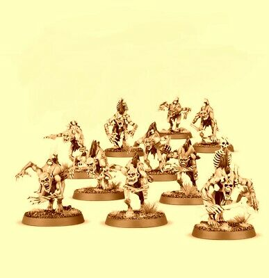 20 Crypt Ghouls, Flesh-eater Courts, Carrion Empire, Warhammer Age Of Sigmar NOS
