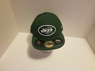 New Era 59FIFTY 5950 NFL NEW YORK JETS ON FIELD Fitted Cap Hat GREEN size 7 72d6f8c35