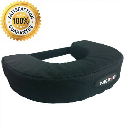NERVE 15150404 Fleece Neck Brace Support Collar, Black, Small