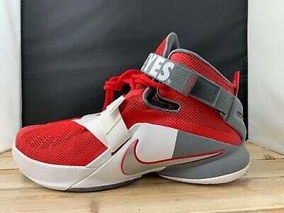 the latest b8157 da548 Nike LeBron Soldier IX 9 PRM Ohio State Buckeyes Basketball 749490 601 SZ  10.5