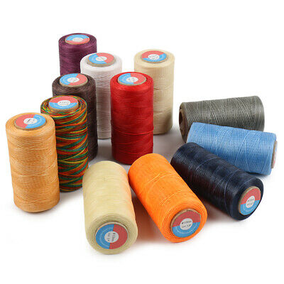 80/260M Waxed Sewing Thread For Upholstery Leather Canvas Bag Handcraft Assorted