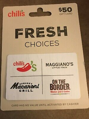 I Have A $50 Chili's, On The Border, Macaroni Grill, Maggiano'S Gift Card