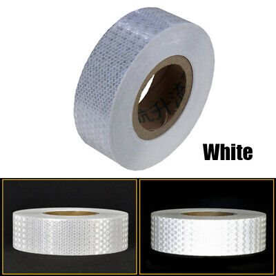 "2""x150' Reflective Conspicuity Tape Safety Warning Sign Car Truck RV Boat White"