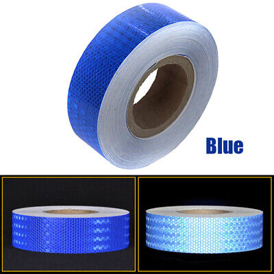 "2""x150' Reflective Conspicuity Tape Safety Warning Sign Car Truck RV Boat Blue"