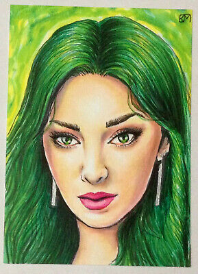 Original Sketch card 1/1 Gifted Polaris actress Emma Dumont by Kevin Munroe PSC