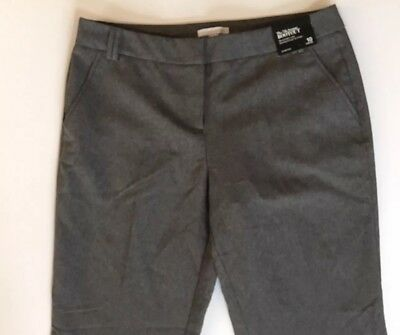 """Women's NEW YORK & CO """"The 7th Ave Bootcut"""" Gray Stretch Pants Size 10 Ave NWT"""